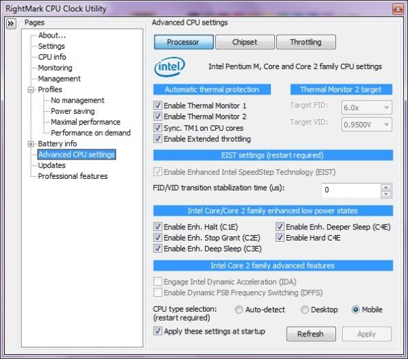 Advanced CPU Settings